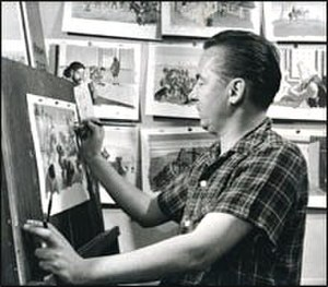 Jean Dallaire - Jean Dallaire in 1956 when he was working for the National Film Board as an illustrator.