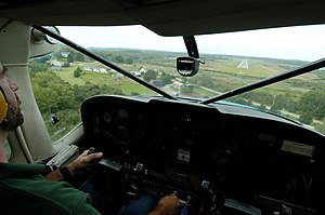 Knox County Regional Airport - Approaching the runway for landing over Ash Point road