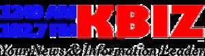 KBIZ - Image: KBIZ 1240 102.7 logo