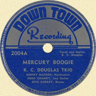 Mercury Blues - Image: KC Douglas Mercury Boogie