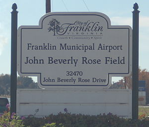 Franklin Municipal–John Beverly Rose Airport - Image: KFKN airport sign