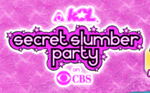 "Cookie Jar TV - ""KOL Secret Slumber Party"" logo, used from 2006 to 2007."