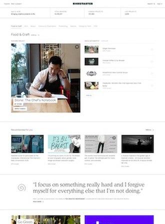 Kickstarter - Image: Kickstarter screenshot