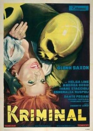 Kriminal (film) - Italian film poster