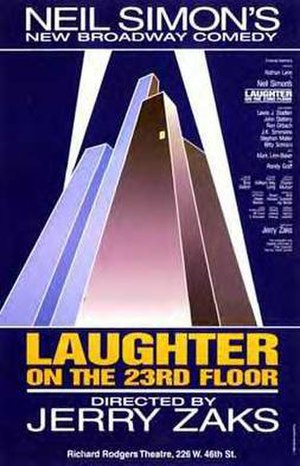 Laughter on the 23rd Floor - Poster for the original Broadway production