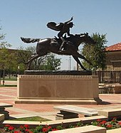 The Masked Rider sculpture