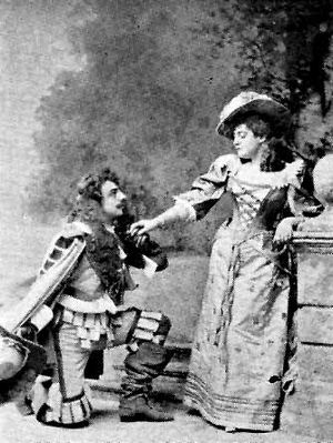 Courtice Pounds - Pounds as John Manners, with Lucille Hill in Haddon Hall (1892)