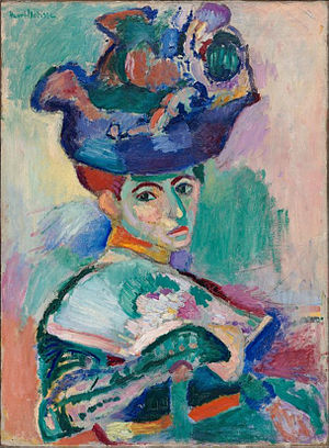 Henri Matisse painting Woman with a Hat, from 1905. in the San Francisco Museum of Modern Art
