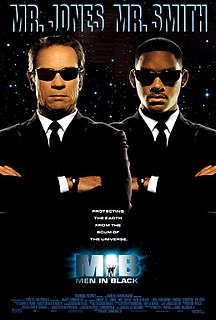 <i>Men in Black</i> (1997 film) 1997 science fiction comedy film directed by Barry Sonnenfeld