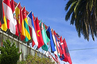 Middlebury Institute of International Studies at Monterey - Flags representing a few of the home countries of students at the Middlebury Institute