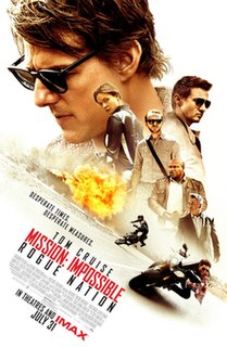 <i>Mission: Impossible – Rogue Nation</i> 2015 American action spy film directed by Christopher McQuarrie