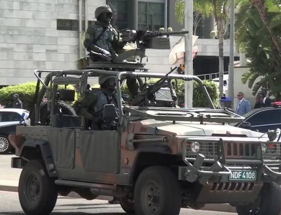 Namibian Special Forces on a Agrale Marrua