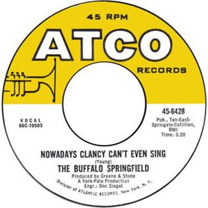 Nowadays Clancy Can't Even Sing - Image: Nowadays Clancy Can't Even Sing