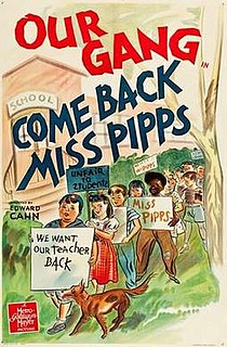 <i>Come Back, Miss Pipps</i> 1941 film by Edward L. Cahn