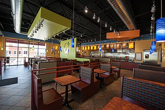 Pancheros Mexican Grill - An interior view of a Pancheros