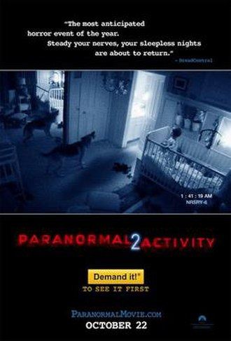 Paranormal Activity 2 - Theatrical release poster