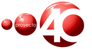 XHTVM-TDT - Proyecto 40 logo used between 2006 and 2017