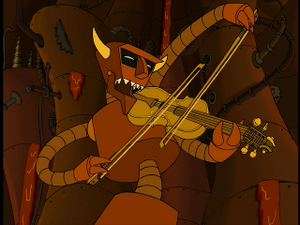 Hell Is Other Robots - The Robot Devil playing the fiddle
