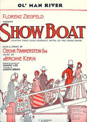 Show Boat - Original 1927 sheet music for Ol' Man River, from Show Boat