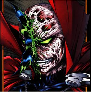 Necroplasm - Spawn bleeding necroplasm after being struck by Batman's batarang