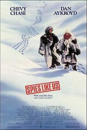 Spies Like Us - Theatrical release poster illustrated by John Alvin