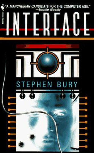 Interface (novel) - First edition cover credited to Stephen Bury