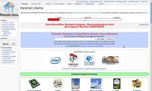 Screenshot of Superpedia