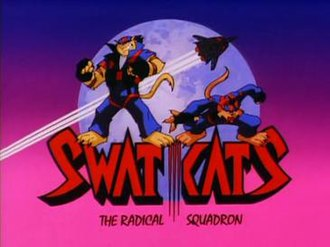 SWAT Kats: The Radical Squadron - SWAT Kats season 2 title card, featuring Razor, T-Bone, and the Turbokat.