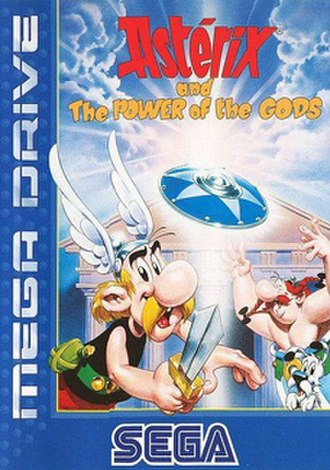 Asterix and the Power of the Gods - Cover art