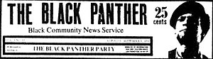 The Black Panther (newspaper) - Image: The Black Panther Newspaper Masthead