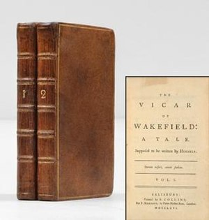 The Vicar of Wakefield - 1766 edition bound in calfskin, with title page