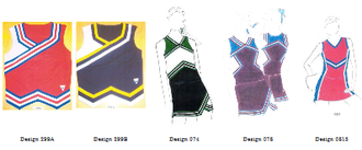 Star Athletica, L. L. C. v. Varsity Brands, Inc. - The five cheerleading uniform designs involved in the case
