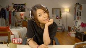 Goodbye Happiness - Utada in the music video.