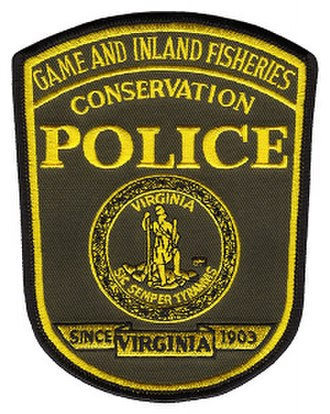 Virginia Department of Game and Inland Fisheries - Conservation Police patch