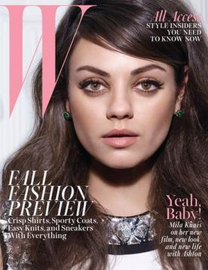 W (magazine) - Mila Kunis on the cover of the August 2014 issue