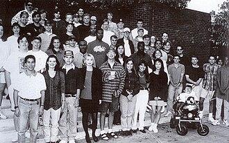 WMSV - The first student volunteer staff at WMSV (1994-5)