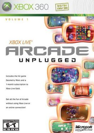 Xbox Live Arcade Unplugged - Cover of the first volume.