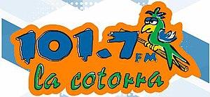 XHVIR-FM - Image: XHVIR La Cotorra 101.7 logo
