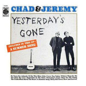 Yesterday's Gone (Chad & Jeremy album) - Image: Yesterday's Gone Chad & Jeremy