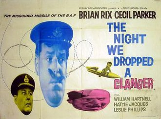 The Night We Dropped a Clanger - UK theatrical release poster