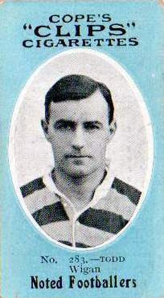 Lance Todd - Cope's Cigarette card featuring Lance Todd