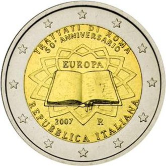 Italian euro coins - Image: €2 commemorative coin Italy 2007 TOR