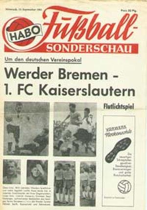 1961 DFB-Pokal Final - Image: 1961 DFB Pokal Final programme