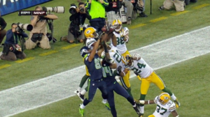 2012 Packers–Seahawks officiating controversy - Image: 2012 Packers Seahawks Final Play