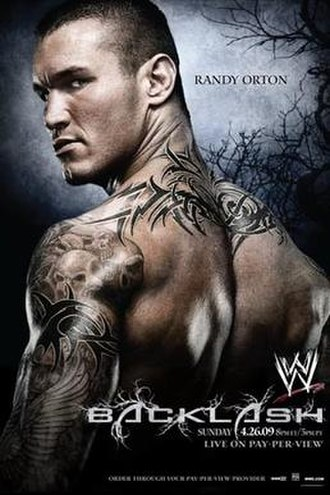 Backlash (2009) - Promotional poster featuring Randy Orton