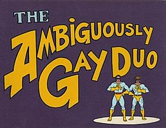 The Ambiguously Gay Duo title card
