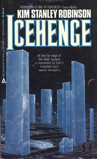 Icehenge - First edition of Icehenge, published by Ace Books as a Mass Market paperback, with cover art by Mark Weber