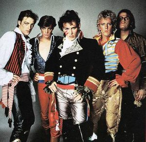 The lineup for Adam and the Ants in 1981.