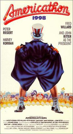 Americathon - US VHS cover for the film