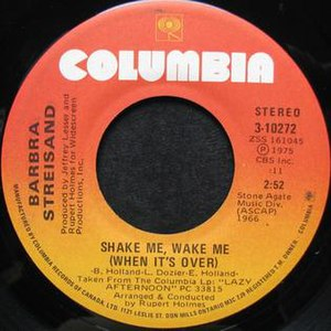 "Shake Me, Wake Me (When It's Over) - Image: Barbra Streisand ""Shake Me, Wake Me (When It's Over)"""
